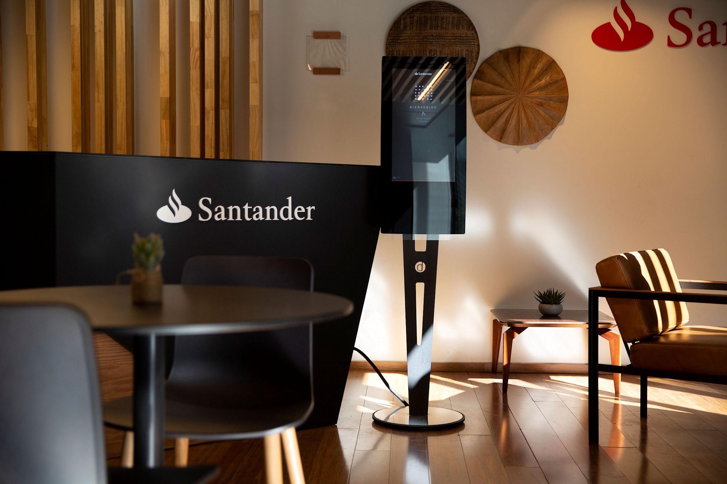 Santander kiosk