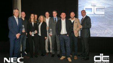 NEC announces winners of the Display Trends Forum Partner Awards from Valencia
