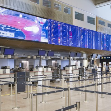 NEC partners with Swedavia to unveil giant LED screens for the perfect passenger experience at Stockholm Arlanda Airport