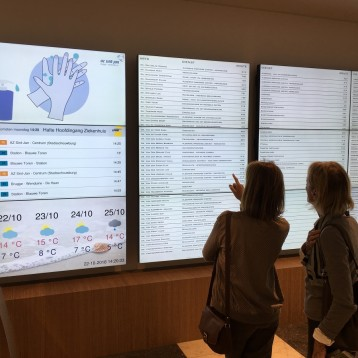 Healthcare: Philips Professional Display Solutions at AZ Sint-Jan Brugge-Oostende