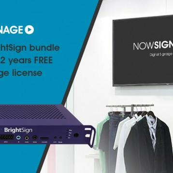 NowSignage extended license uplift to NEC & BrightSign bundle