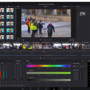 Salford City College takes Media Production  Courses Online with DaVinci Resolve