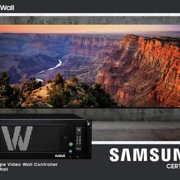 Samsung Certifies VuWall VuScape Video Wall Controller