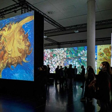 Lasting impression with projected video art exhibition