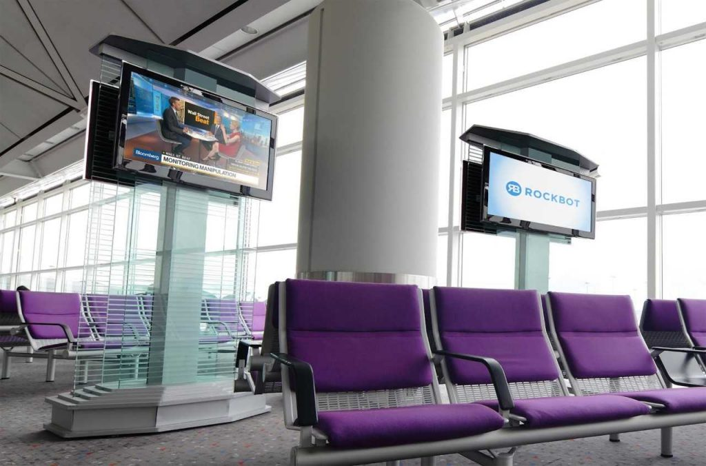 Rockbot Airport TV Network provides video content on in-airport TV networks
